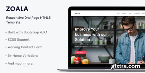 ThemeForest - Zoala v1.0 - One Page HTML5 Template - 24842144