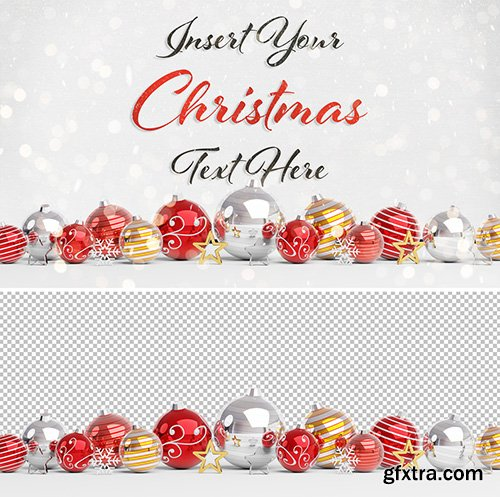 Christmas Card Mockup with Decorations 300469920