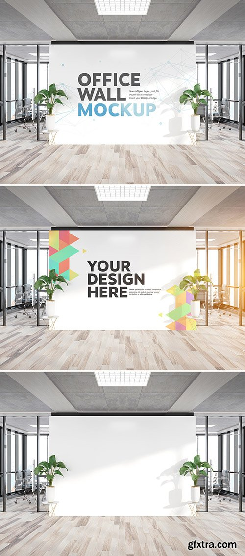 Billboard Wall in Office Mockup 300467611