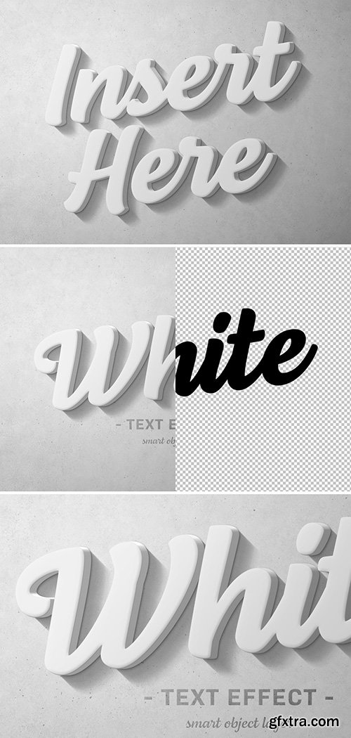 White 3D Text Effect 300990528