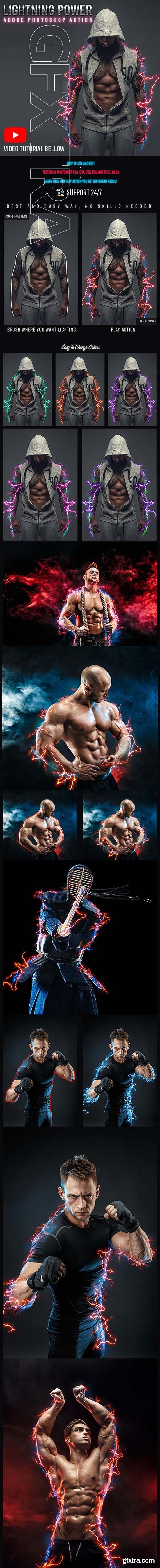 GraphicRiver - Lightning Power Photoshop Action 24774308