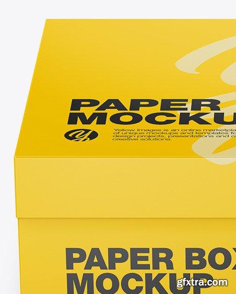 Matte Paper Box - Front View 51050