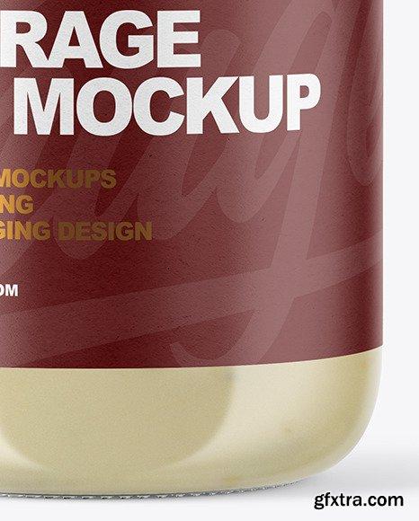 Clear Glass Jar with Tar Tar Sauce Mockup 51046