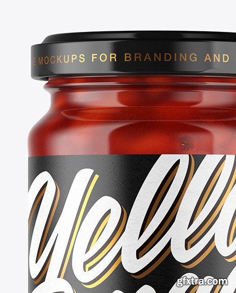 Clear Glass Jar with Beans Mockup 51040