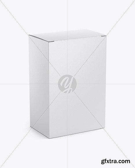 Matte Paper Box with Metallic Bag Mockup 51003