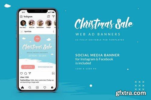 Christmas Sale Web Ad Banners
