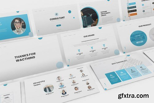 IT Consultant Powerpoint Google Slides and Keynote Templates