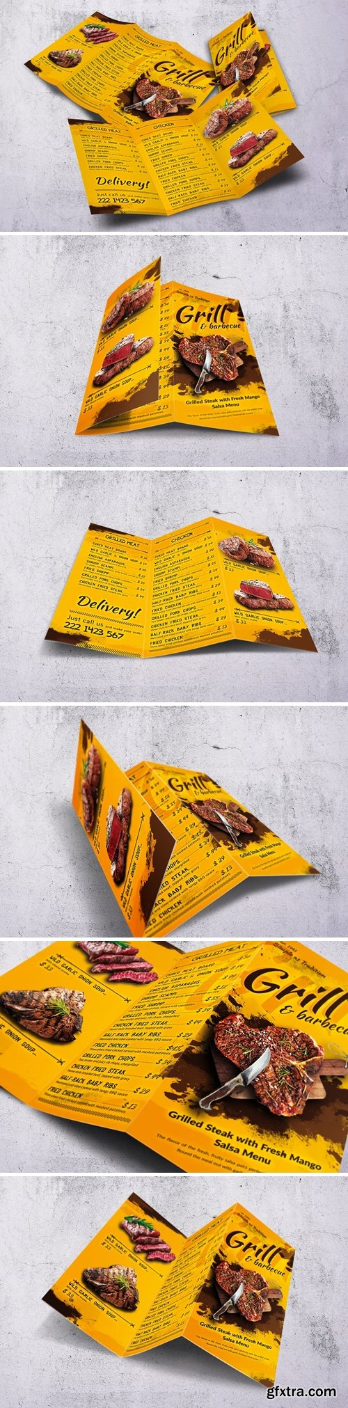 Barbecue Trifold A4 & US Letter Food Menu