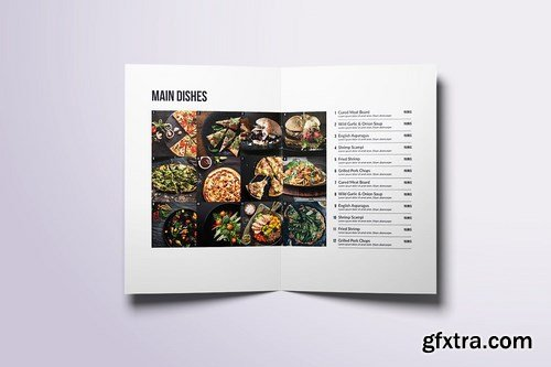 Minimal Modern Food Menu Bundle
