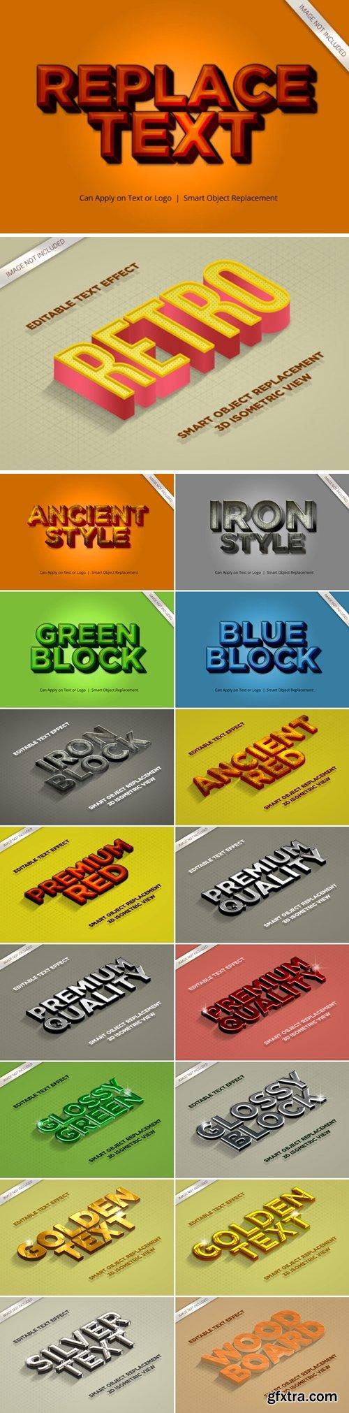 3D Mockup Text Effect Style Bundle