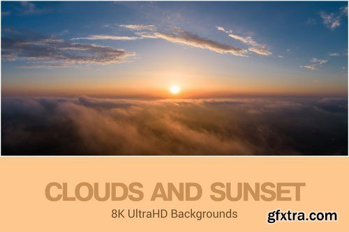 8K UltraHD Clouds and Sunset Backgrounds