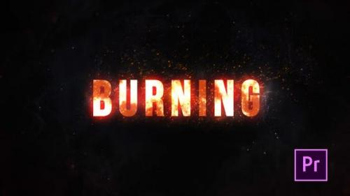 Videohive - Burning Fire Title - Premiere Pro
