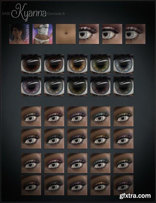 Daz3D - SASE Kyanna for Genesis 8 DAZ Studio | 3D MODELS