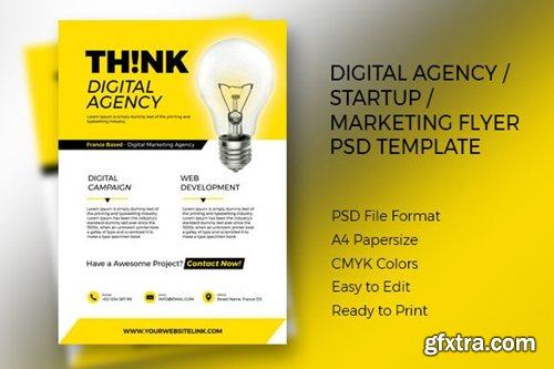 THINK Digital Agency Flyer PSD Template