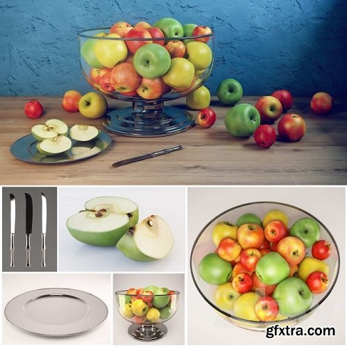 Apple set with Durban Centerpiece Bowl and Durant Beaded Charger