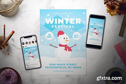 Winter Festival Flyer Set
