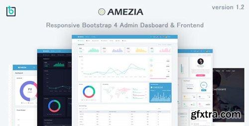ThemeForest - Amezia v1.2 - Responsive Admin & Dashboard Template - 22607274