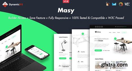 ThemeForest - Masy v1.0 - Responsive Email + Online Template Builder - 24853811