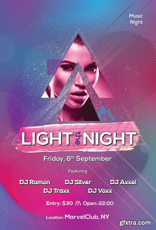 Light The Night - Premium flyer psd template
