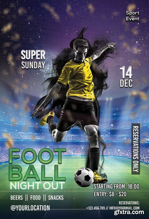Football Night Out - Premium flyer psd template