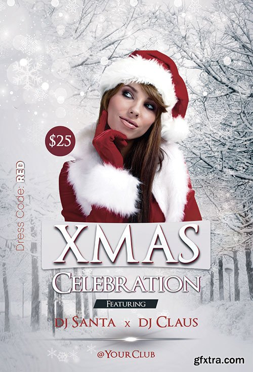 Xmas Celebrations - Premium flyer psd template