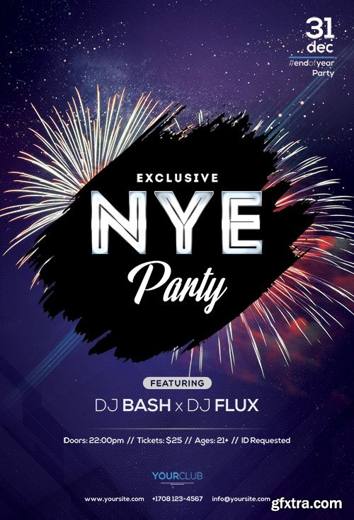 Nye Party - Premium flyer psd template