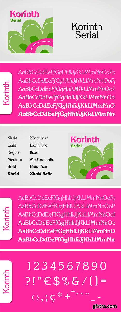 Korinth Serial Font Family