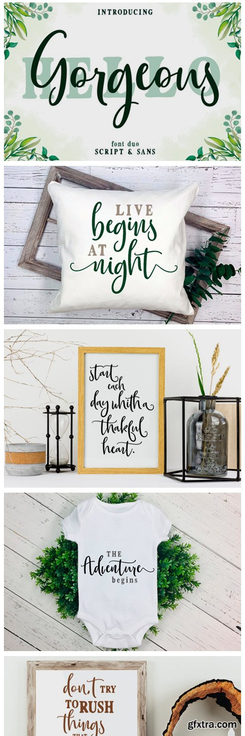 Gorgeous Duo Font