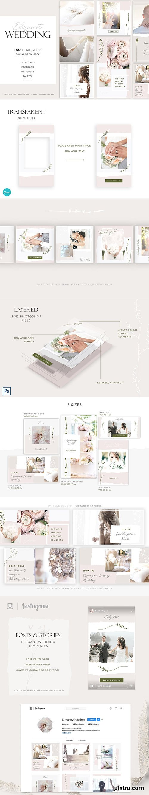 Elegant Wedding Social Media Pack