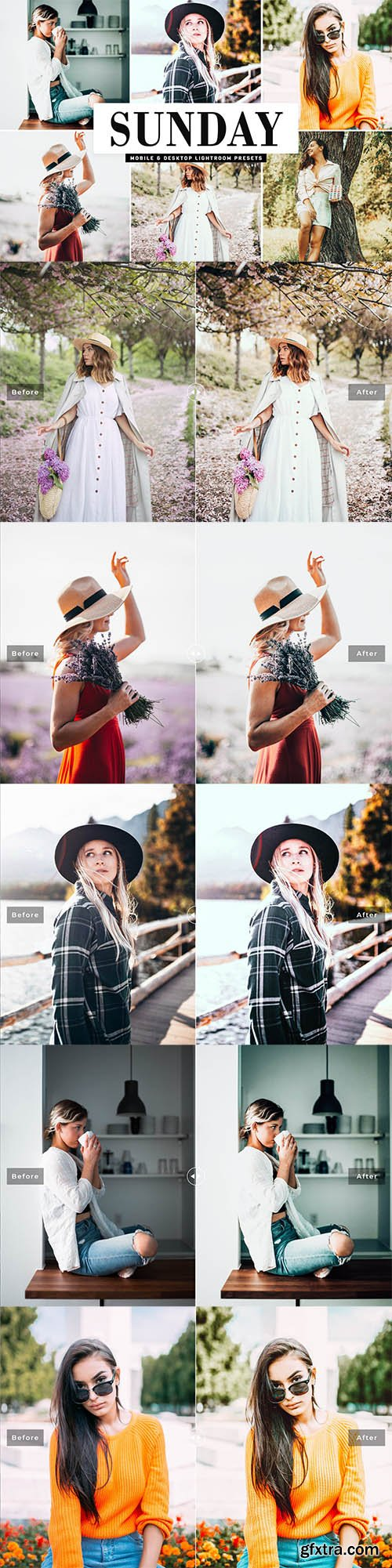 Sunday Mobile & Desktop Lightroom Presets
