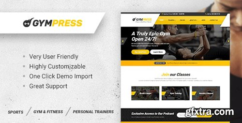ThemeForest - GymPress v1.3.2 - WordPress theme for Fitness and Personal Trainers - 20262322 - NULLED