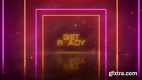 ideohive Neon Light Party Opener 24969984