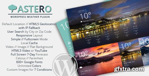 CodeCanyon - Astero v1.4.3 - WordPress Weather Plugin - 9473087