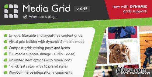 CodeCanyon - Media Grid v6.45 - Wordpress Responsive Portfolio - 2218545