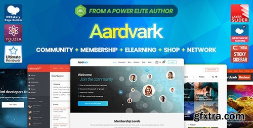 ThemeForest - Aardvark v4.10 - Community, Membership, BuddyPress Theme - 21281062