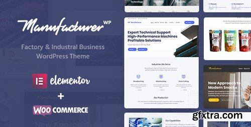 ThemeForest - Manufacturer v1.1.7 - Factory and Industrial WordPress Theme - 22672753 - NULLED