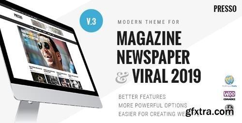 ThemeForest - PRESSO v3.3.7 - Modern Magazine / Newspaper / Viral Theme - 6335504