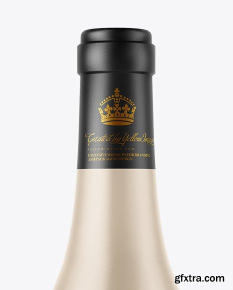 Ceramic Wine Bottle Mockup 51577