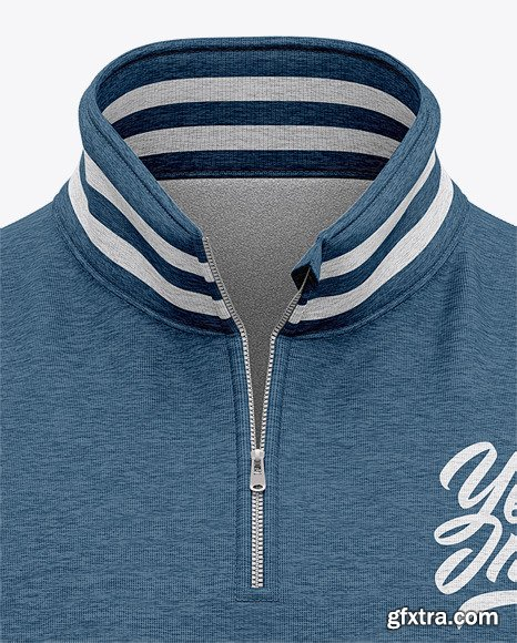 Heather Three Quarter Zipped Sweatshirt 51606