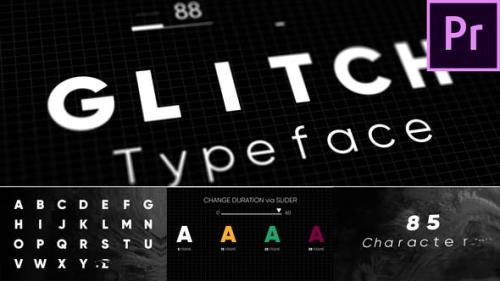 Videohive - Glitch - Animated Typeface