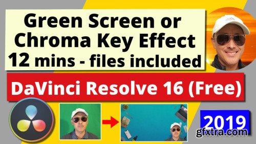 Green Screen or Chroma Key Effect for Beginners | DaVinci Resolve 16 (Free)