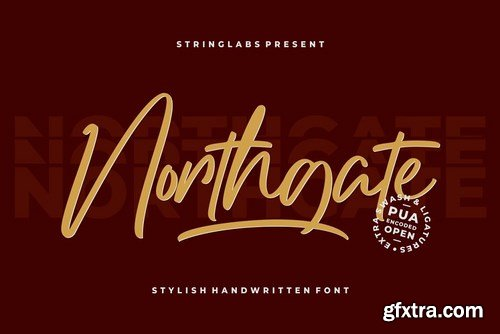 CM - Northgate - Stylish Handwritten Font 4277359