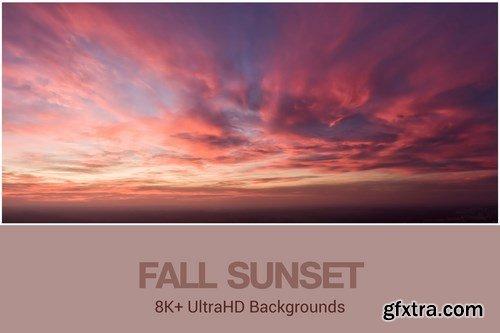 8K+ UltraHD Fall Sunset Backgrounds