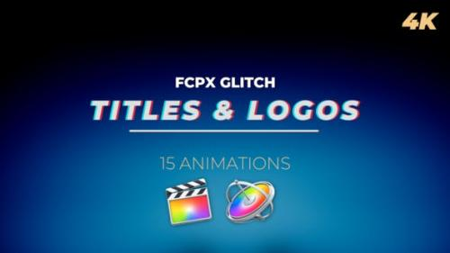 Videohive - FCPX Glitch Titles and Logos