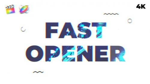 Videohive - Fast Opener   FCPX & Motion 5