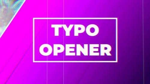 Videohive - Typo Opener