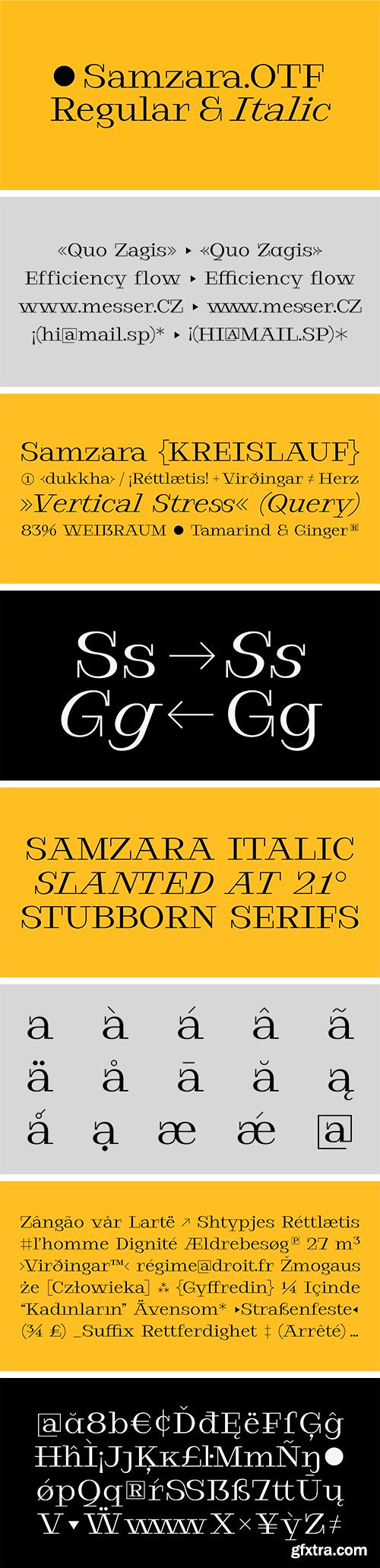 Samzara Font
