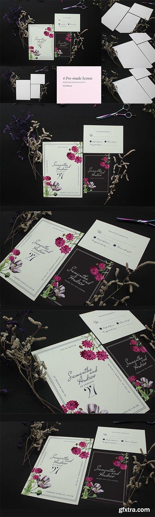Wedding Invitation Mockup Set I