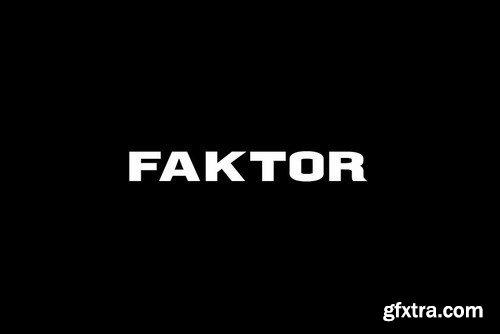 CM - FAKTOR - Display Headline Typeface 4286209