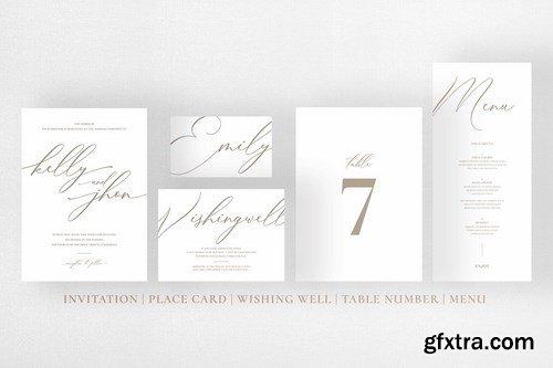 Minimal Gold White Wedding Suite
